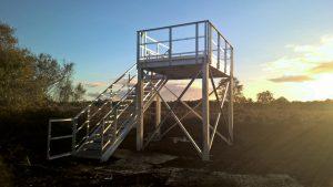 Viewing tower at Hatfield moors - Overlooking Packhard's Heath where Nightjar's breed each year