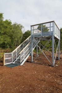 First viewing tower at Hatfield Moor