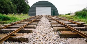 The test track built by the volunteers at Crowle Peatland Railway