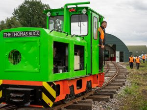 Schoma loco at Crowle Peatland Railway out for a test run