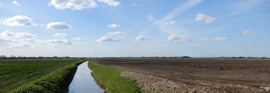 View over the Isle of Axholme along a dyke