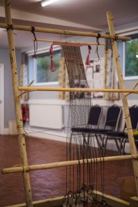 Large loom - Used by the volunteers at the Flax workshops