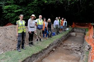 The team undertaking the Vinegarth dig
