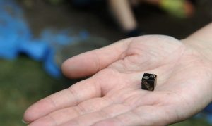 A jet dice found at the Vinegarth dig