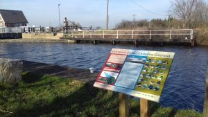 Information board installed along the Greenway