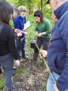 Volunteers coring