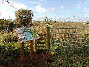 Information board installed at Keadby Warping Drain