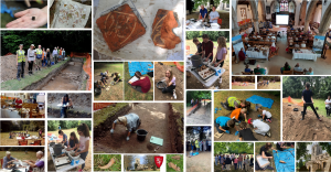 Montage of photos from the vinegarth dig