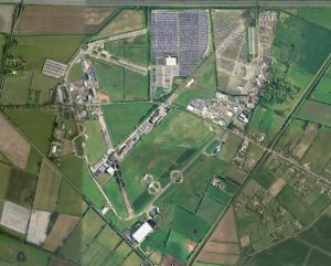 Aerial of Sandtoft airfield