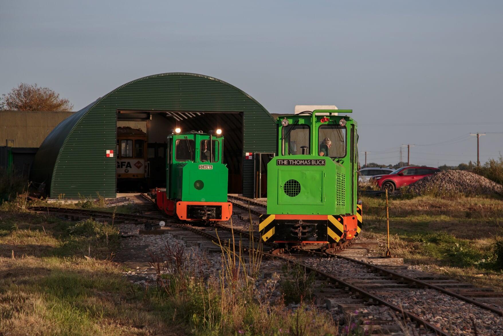 Schoma locos at Crowle Peatland Railway